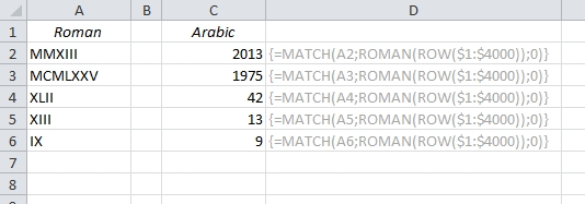 EasyExcel_13_Convert roman to arabic and back_2