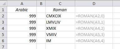 EasyExcel_13_Convert roman to arabic and back_3