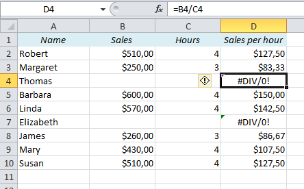 How to avoid #DIV/0 and other Error Messages in Excel | Easy-Excel.com