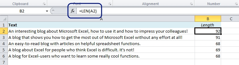 EasyExcel_21_2_Count Characters in Excel