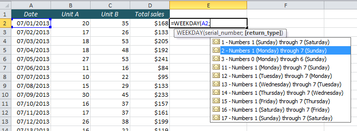 EasyExcel_37_2_Highlight weekends with conditional formatting