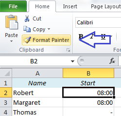 EasyExcel_38_2_Copy format in Excel