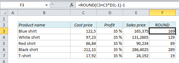 How To Calculate Prices And Make Them End With A Certain